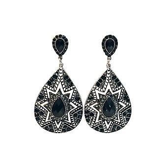 Elegant drop shaped statement earrings with star