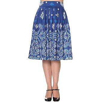 Dancing Days Blue Follow You Skirt L