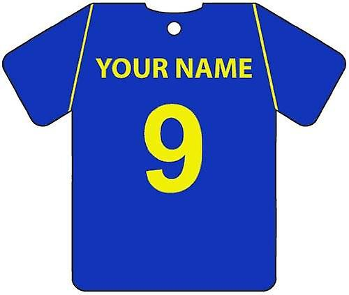 Personalised AFC Wimbledon Football Shirt Car Air Freshener