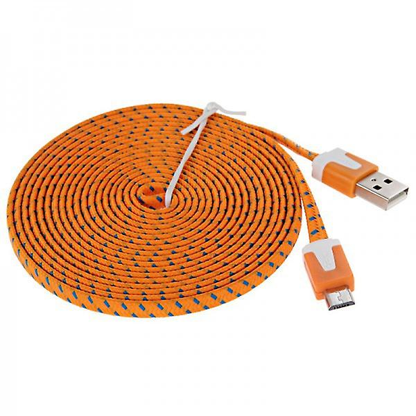 1m USB data and charging cable Orange for all Smartphone and Tablet micro USB
