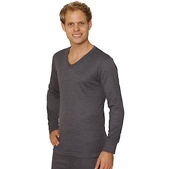OKTAWY Mens Thermal Underwear długi rękaw 'V'-szyi koszulka / kamizelka / górny