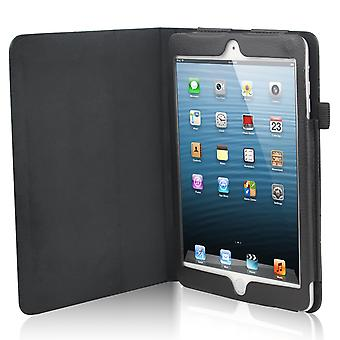 TRIXES Black Stylish High Quality Faux Leather Case Stand Cover for Apple iPad Mini