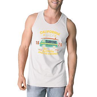 Eindeloze zomer Mens wit mouwloos Top Vintage katoenen Tank Top