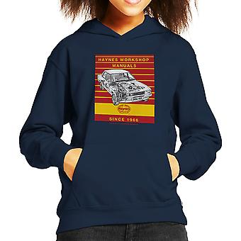 Haynes Workshop handmatige 0409 Ford Cortina 1300 Stripe Kid's Hooded Sweatshirt