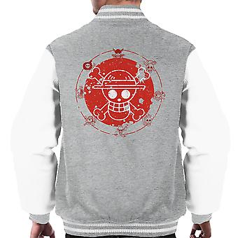 One Piece Logo Men's Varsity Jacket