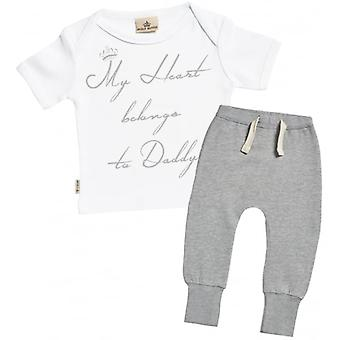 Spoilt Rotten Heart Belongs To Daddy T-Shirt & Joggers Outfit Set