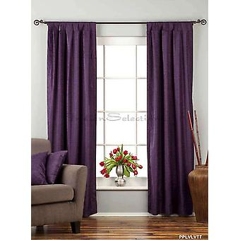 Purple Tab Top Velvet  Curtain / Drape / Panel  - 84