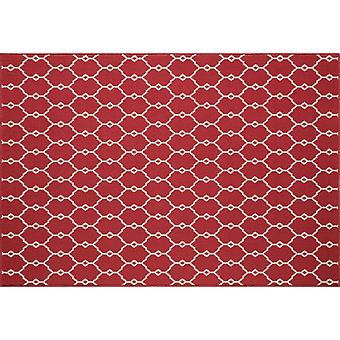 In - and outdoor carpet balcony / living room of vitaminic trellis red 160 x 230 cm