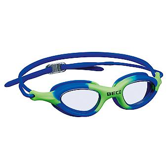 BECO Biarritz Junior Swimming Goggle - Clear Lenses - Blue/Green