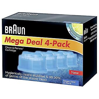 Braun Lot Of 4 Cartridges Ccr4 (Man , Shaving , Shavers , Facial)