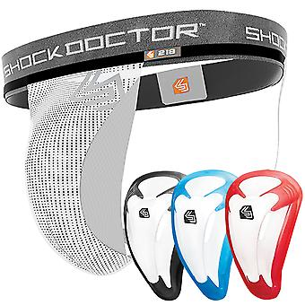 Shock Doctor Core Supporter with Bioflex Athletic Cup - White