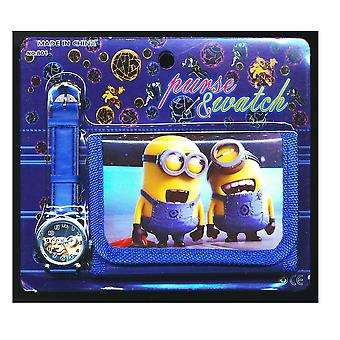 DESPICABLE ME MINION | Wristwatch and Wallet | Childrens Watch & Wallet Gift Set