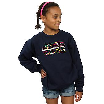 Elf Girls Candy Cane Forest Sweatshirt