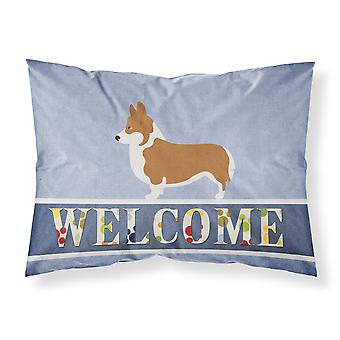 Pembroke Welsh Corgi Welcome Fabric Standard Pillowcase