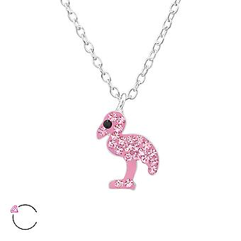 Flamingo crystal from Swarovski® - 925 Sterling Silver Necklaces