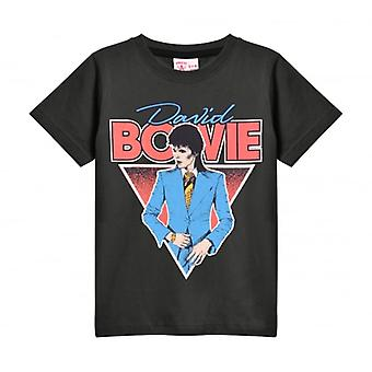 Amplified Amplified Kids David Bowie Suit T Shirt Charcoal