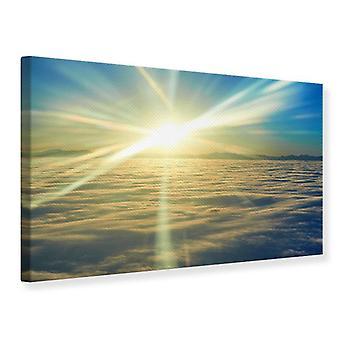 Lona impresión amanecer sobre las nubes