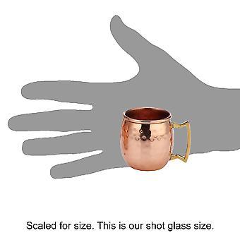 आधुनिक घर प्रामाणिक १००% ठोस तांबे अंकित मास्को खच्चर मग 2-आस्ट्रेलिया शॉट ग्लास-Set of 4