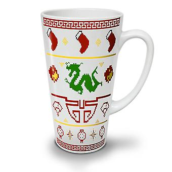 Chinese Dragon New Year NEW White Tea Coffee Ceramic Latte Mug 17 oz | Wellcoda