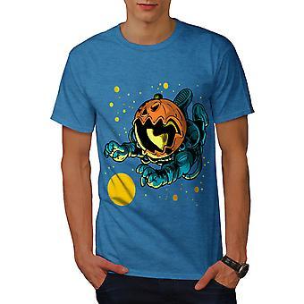 Pumpkin Astronaut Men Royal BlueT-shirt | Wellcoda