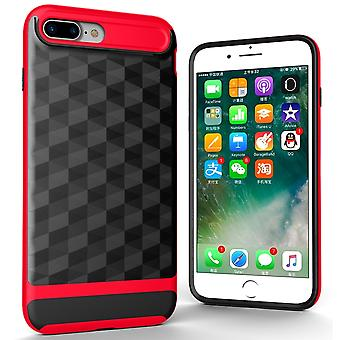 Cover for Apple iPhone 7 plus back cover case cell phone cover - cover 3D Prism design Red