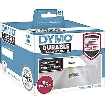 DYMO Labels (roll) 64 x 19 mm PE film White 900 pc