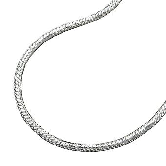 Round snake chain silver 925 necklace 50cm