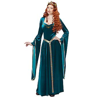 Lady Guinevere Renaissance Medieval Queen Game of Thrones Blue Womens Costume
