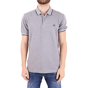 Fred Perry men's FPM360025420 grey cotton polo shirt