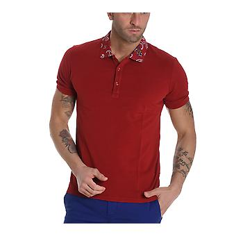 ETRO men's 1Y8059171604 red cotton polo shirt