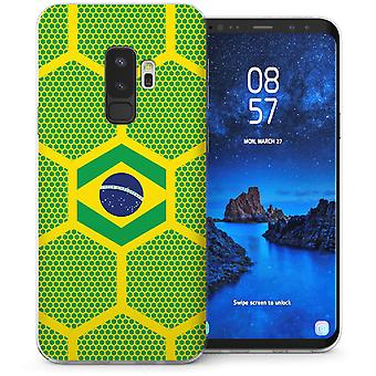 Samsung Galaxy S9 Plus Brazilië voetbal lambrisering TPU Gel Case-groen