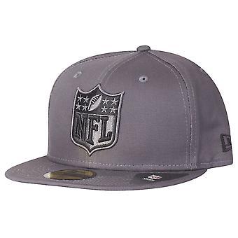 ニューエラ 59 fifty フィット キャップ - グラファイト NFL ロゴ グレー