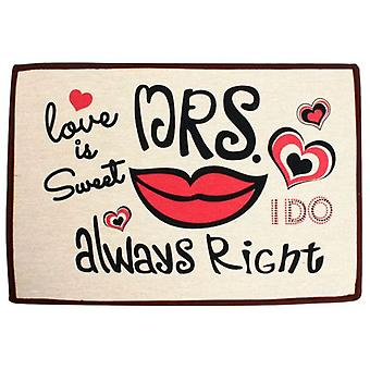 Wellindal Ordinary Rug Mrs Right 60X40Cm (Textile , Doormats)