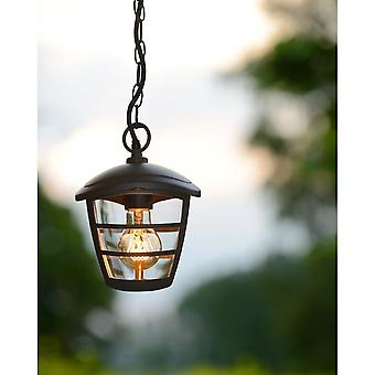 Lucide ISTRO Black Porch Ceiling Pendant Light
