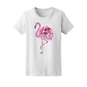 Flamingo With Flower Body Tee Women's -Image by Shutterstock