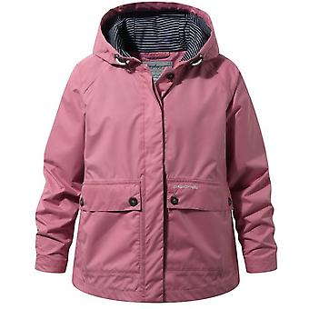 Craghoppers Girls Faraway Hooded Light Weight Waterproof Jacket Coat