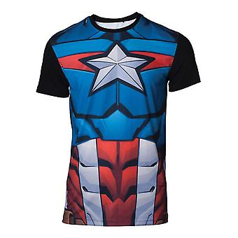 Captain america Cosplay T-Shirt multicolour Medium (TS070426MVL-M)