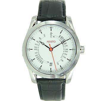 Aristo clock unisex wristwatch automatic leather Ärzteuhr 4H124