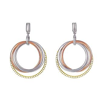 ESPRIT women's earrings gold Rosé cubic zirconia Magnifica trio ESER02886D000
