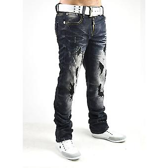 New Men's Jeans trousers VIP Dirty Vintage Destroyed Clubwear Style black