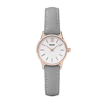 Cluse Cl50009 La Vedette Rose Gold & Grey Leather Ladies Watch