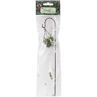 Fairy Garden Wire Hanging Planter W/Moss-8
