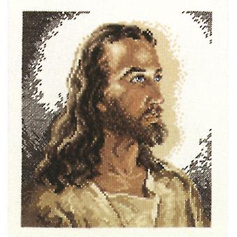 Portrait Of Christ Counted Cross Stitch Kit-6.875