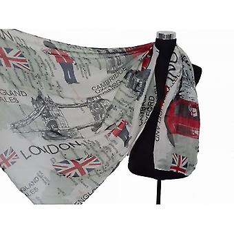 Union Jack Wear Union Jack GB Map Pashmina Shawl/Scarve