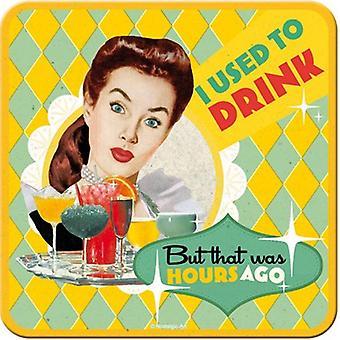 Eu costumava beber... Esteira de bebidas engraçadas / Coaster