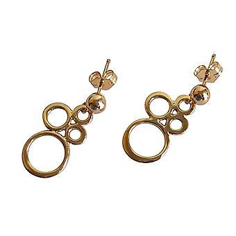 Oorbellen oorbellen gouden oorringen verguld brons