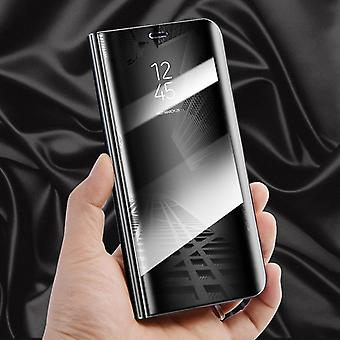 For Apple iPhone XR 6.1 inch clear view mirror mirror smart cover black protective case cover pouch bag case new case wake UP function