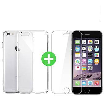Stuff Certified ® iPhone 6 Transparent TPU Case + Screen Protector Tempered Glass