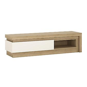 Furniture To Go Lyon TV Stand with Open Shelf and LED Lighting