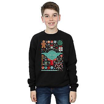 Star Wars Boys Yoda Christmas Sweatshirt